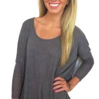 Forever Fall Top- Grey