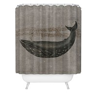 Terry Fan Whale Song Shower Curtain