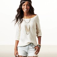 AE Open Stitch Sweater | American Eagle Outfitters