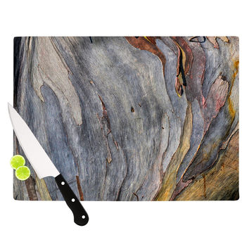 "Susan Sanders ""Milky Wood"" Gray Brown Cutting Board"