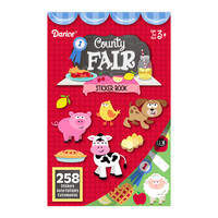 ConsumerCrafts Product County Fair Sticker Book with 258 Kids Stickers