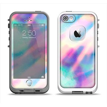 The Tie Dyed Bright Texture Apple iPhone 5-5s LifeProof Fre Case Skin Set