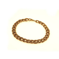 Gold Fill Textured Link Curb Chain Bracelet