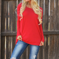 PIKO Thinking Out Loud Dolman Top - Red