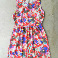 Blooming Abstract Dress [3072] - $34.00 : Vintage Inspired Clothing & Affordable Fall Frocks, deloom | Modern. Vintage. Crafted.