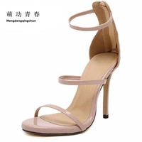 Size 35-43 Women Pumps High Heels Ladies Sexy Lace Up Gladiator Sandals Thin Heeled Gladiator Shoes Zapatos Mujer Shoes Woman