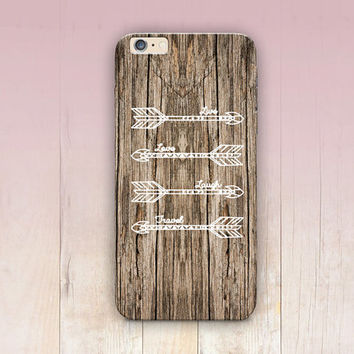 Tribal Arrows Wood Print Phone Case  - iPhone 6 Case - iPhone 5 Case - iPhone 4 Case - Samsung S4 Case - iPhone 5C - Tough Case - Matte Case