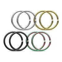 BodyJ4You Piercing Rings Earrings Nose Hoops Tragus Lip Stainless Steel 10mm 16G Jewelry Set 8 Pieces