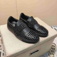 PP  Man Fashion Casual Shoes Men Fashion Boots fashionable Casual leather Breathable Sneakers Running Shoes Sneakers