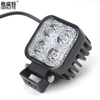 GERUITE 1PCS 12W 4 x 3W Car LED Work Light Square 1200lm as Worklight Flood Light Spot Light for Boating Hunting Fishing