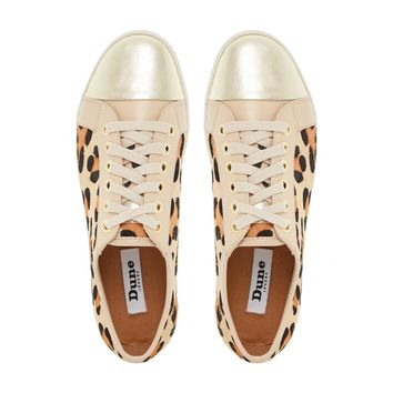 DUNE LADIES ENNIS - Mixed Material Lace Up Trainer - leopard | Dune Shoes Online