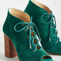 The Game Is Afoot Suede Bootie | Mod Retro Vintage Boots | ModCloth.com