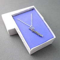 Sterling Silver Flute Necklace Band Student Instrument Gift