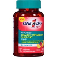 One A Day Adult VitaCraves Healthy Metabolism Support Multivitamin/Multimineral Supplement Gummies, 60 count - Walmart.com