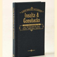 Insults & Comebacks Book by Knock Knock