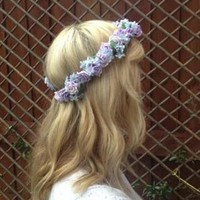 Lilac Flower Crown from jennywens