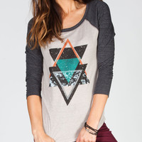 Billabong What Were Womens Baseball Tee Off-Black  In Sizes