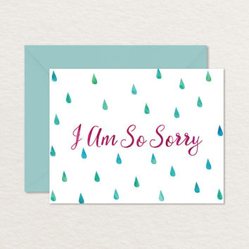 Printable Sympathy Card / Printable Apology Card / Empathy / Miscarriage Infertility Loss Card / Death Bereavement Card / A2 I'm Sorry Card