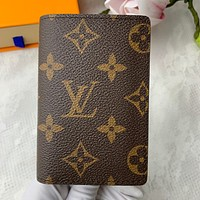 Louis Vuitton LV Hot Sale New Letter Printed Men's and Women's Small Wallet Key Case