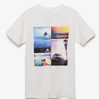 Hobie by Hurley Summer Collage T-Shirt - Mens Tee - White