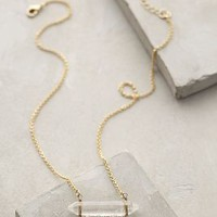 Lucent Fringe Necklace by Anthropologie Clear One Size Necklaces