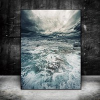 Canvas painting Wall art picture print on seawater poster Wall Picture home decor canvas decoration for living room no frame