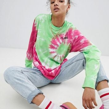 Puma Exclusive To ASOS Long Sleeve T-Shirt With In Tie Dye at asos.com