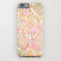 Rosy Opalescent Art Deco Pattern iPhone & iPod Case by Micklyn