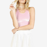 Winthrop Perforated Pleather Skirt