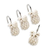 Tommy Bahama® Pineapple Shower Curtain Hooks (Set of 12)