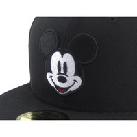Mickey Mouse New Era 59fifty Fitted hats (Black Gray Under Brim) - ECapCity