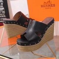 DCCK HERMES Women Casual Shoes Boots  fashionable casual leather