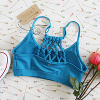 Spool Active Braided Sports Bra in Sky