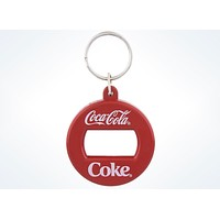 Coca Cola Authentic Bottle Opener Metal Keychain New with Tags