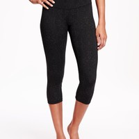 Go-Dry Cool High-Rise Compression Crops for Women