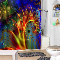 abstract galaxy shower curtains adorabel bathroom and heppy shower.