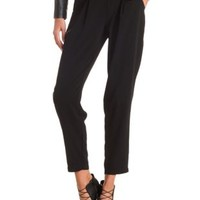 Pleated High-Waisted Trousers by Charlotte Russe