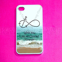 iphone 4 Case, iPhone 4s case -Forever Anchored, Infinity   iPhone 4 Cases, Iphone 4s Cover,Case for iPhone 4