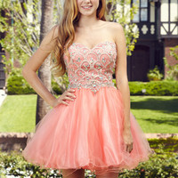 G2031 Jeweled Homecoming Cocktail Dress