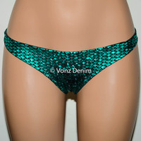 Mermaid Hips Bikini Bottoms, Medium Coverage Cheeky Brazilian Bikini Bottom, Fully Lined Hips Beach Bottom