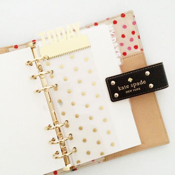 page marker pocket & personal size : today (gold polka dot)