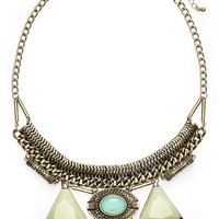 Junior Women's BP. Faceted Stone Statement Necklace