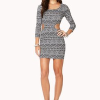 Tribal Print Cutout Dress