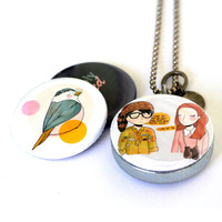 I Love You But You Don't Know What You're Talking About Locket - Scouts, Camping, Magnetic, Recycled - Nan Lawson Collection by Polarity