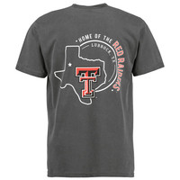 Men's Black Texas Tech Red Raiders Home State Comfort Colors T-Shirt