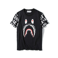 Cotton Short Sleeve T-shirts Strong Character Bottoming Shirt [10351478663]