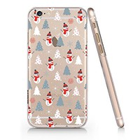 Snowman Pattern Merry Christmas Clear Transparent Plastic Phone Case for iphone 6 6s_ SUPERTRAMPshop