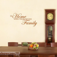 Our Home Where Friends Become Family Vinyl Wall Art by showcase66
