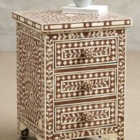 Bone Inlay Nightstand by Anthropologie in Brown Size: One Size Furniture