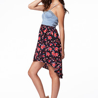 Floral Chambray Combo Dress   FOREVER 21 - 2059863842
